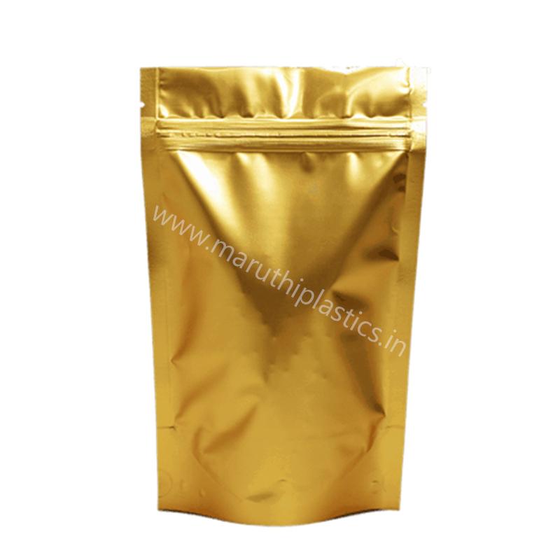 Matte Golden Stand Up Pouch with Zipper